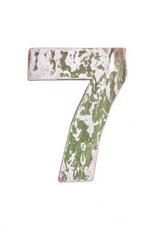 Wooden letter 7