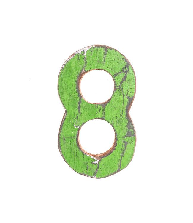 Wooden letter 8