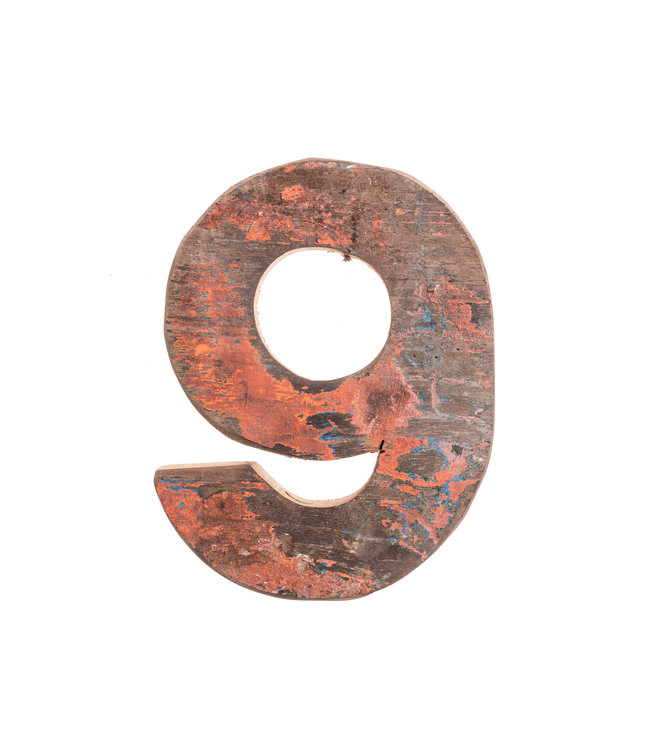 Wooden letter 9