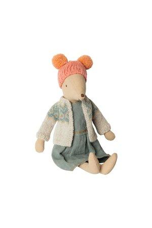 Maileg Medium mouse, winter - girl