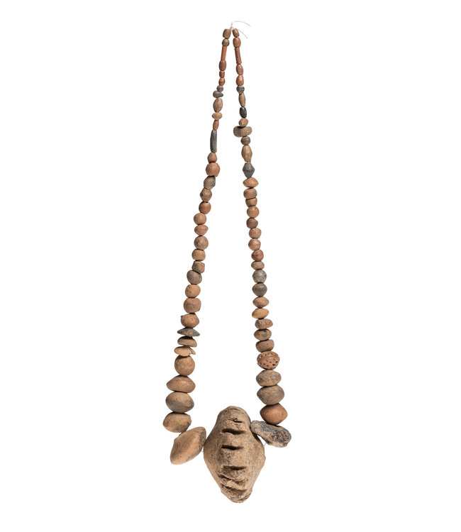 Old necklace of clay beads #1