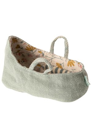 Maileg Carry cot, My - dusty green