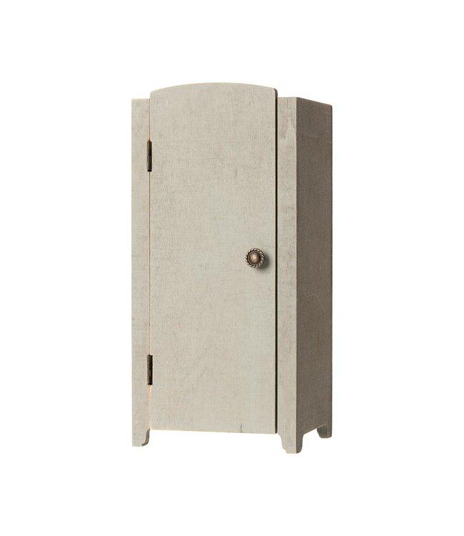 Maileg Mini vintage closet w. shelves - mint/grey