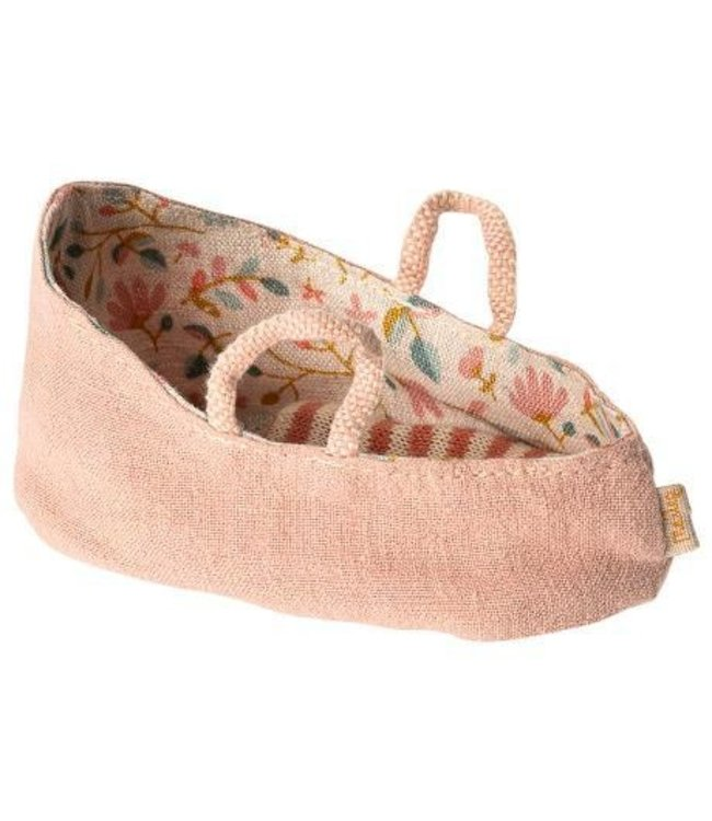 Maileg Carry cot, My - misty rose