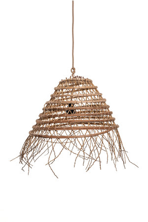 Suspension lamp date palm 'crescent' with frills