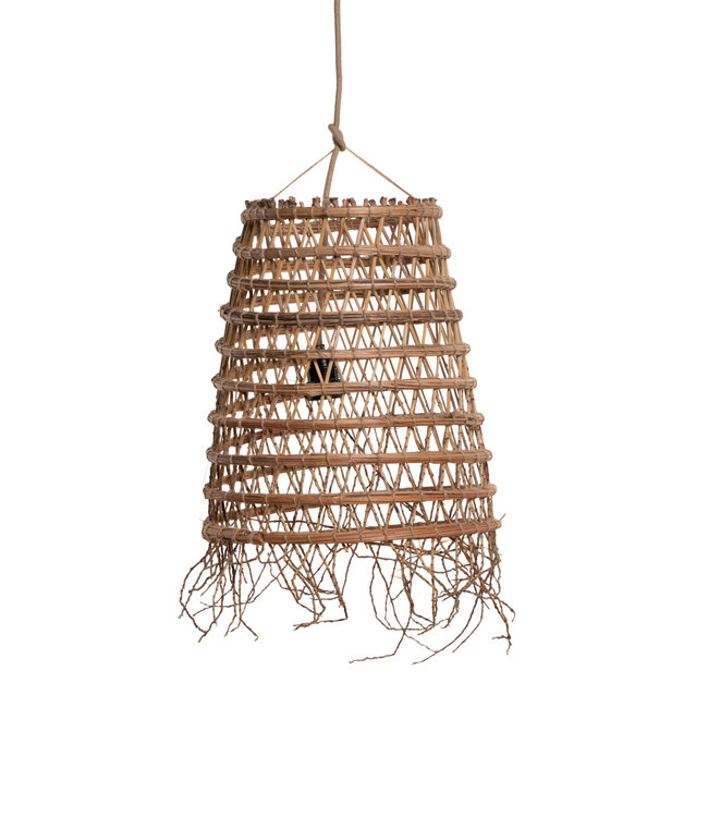 Suspension lamp date palm 'cylinder' with frills