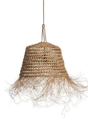Hanglamp 'pot' zeegras met franjes