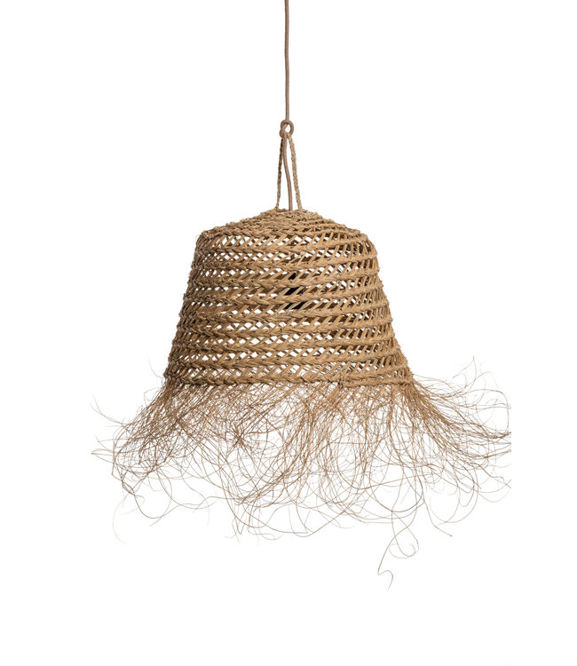 Suspension lamp 'pot' seagrass with frills