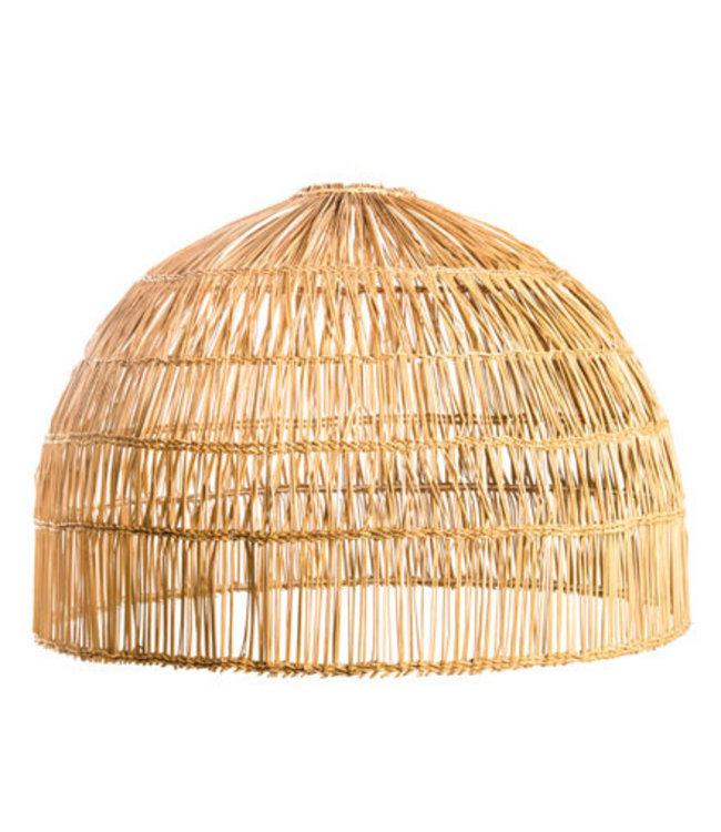 Hanglamp demi - boule 'Jonc tressé'