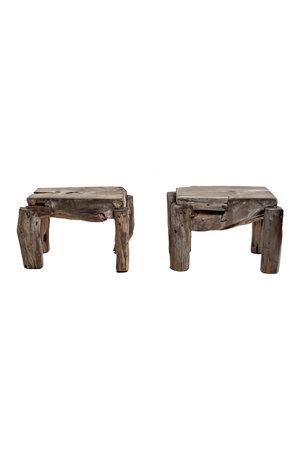 Table 'Blokkie' recycled teak