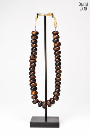 Ethnic beads bone brown - Kenya