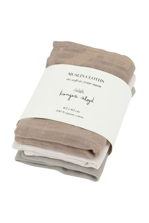 Konges Sløjd 3 pack muslin cloths - rose dust