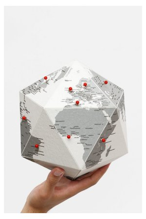 Palomar Here globe by cities