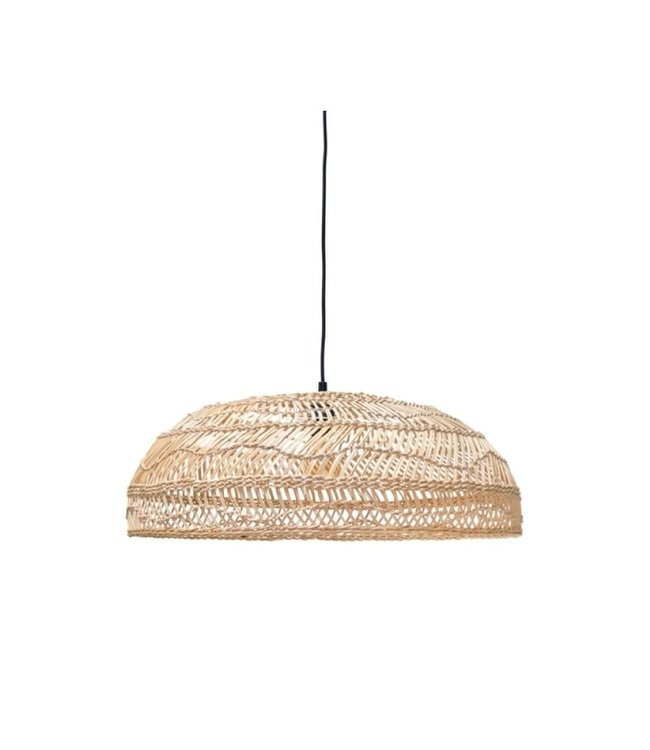 Hand woven wicker hanging lamp flat
