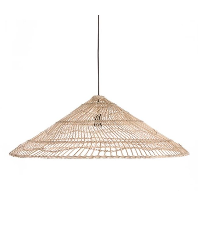 Hand woven wicker hanging lamp triangle