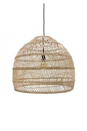 Hand woven wicker hanging lamp ball