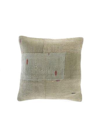 Kilim cushion - green with dots - Turkey