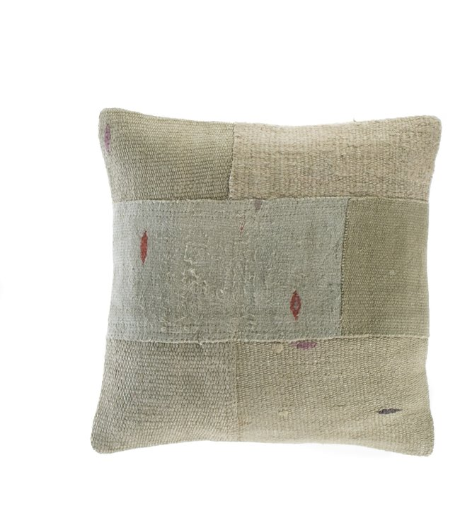Kilim cushion - green with dots - Turkey