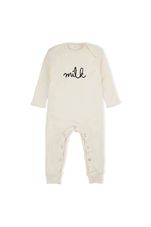 Organic Zoo Playsuit 'milk' natural