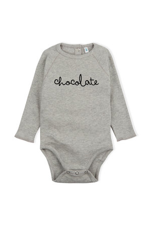 Organic Zoo Bodysuit 'chocolate' grey