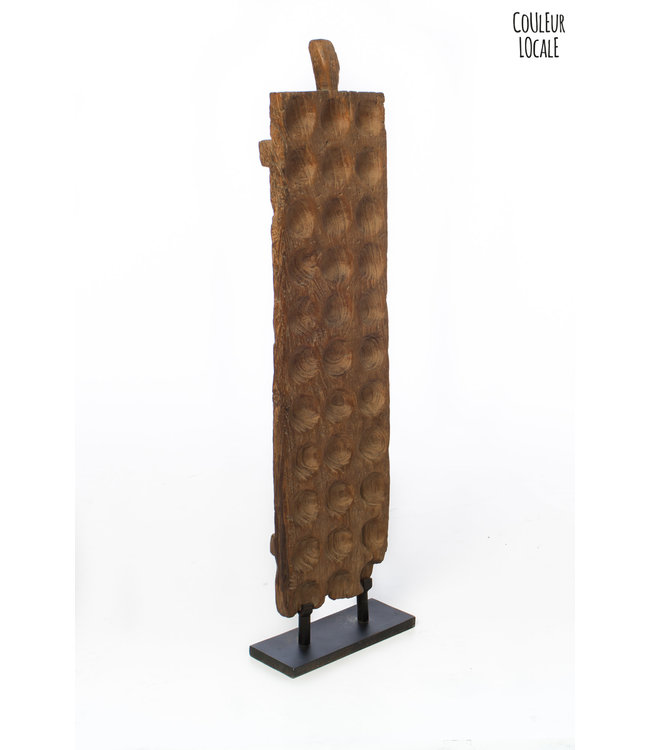 Old mancala gameboard tall