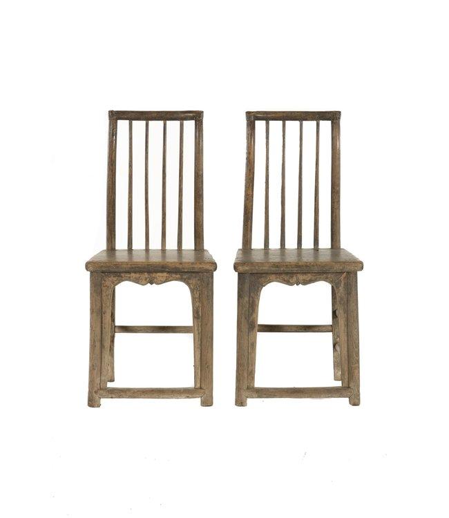 Set van 2 19de eeuwse stoelen