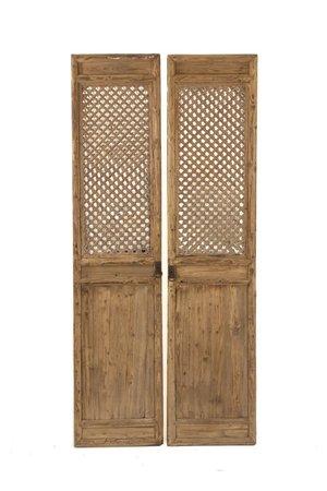 Set of 2 old door panels, China