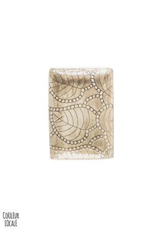 Wonki Ware Rectangular utensil - pattern