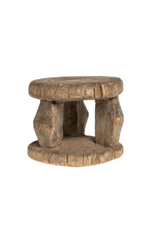 Oude ronde kruk Senufo