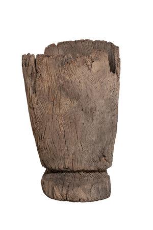 Oude houten vijzel Mossi #2
