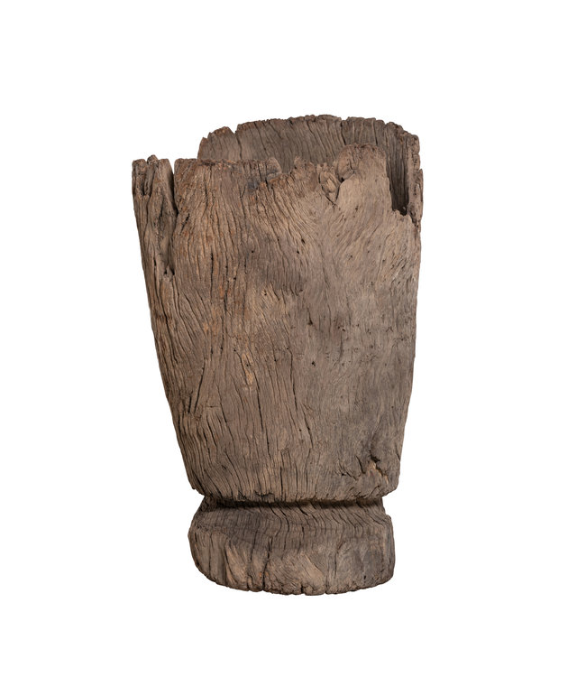 Old wooden mortar Mossi # 2