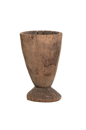 Old wooden mortar Mossi # 3