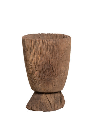 Old wooden mortar Mossi # 4