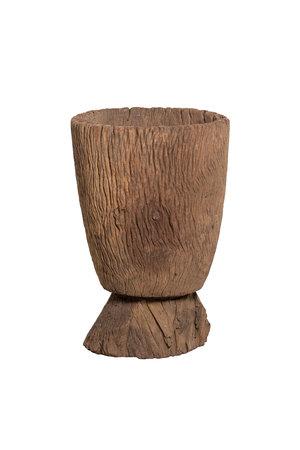 Oude houten vijzel Mossi #4