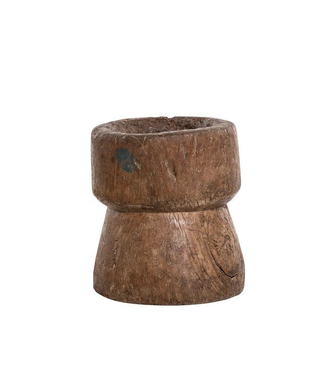 Old wooden mortar #1 - Naga
