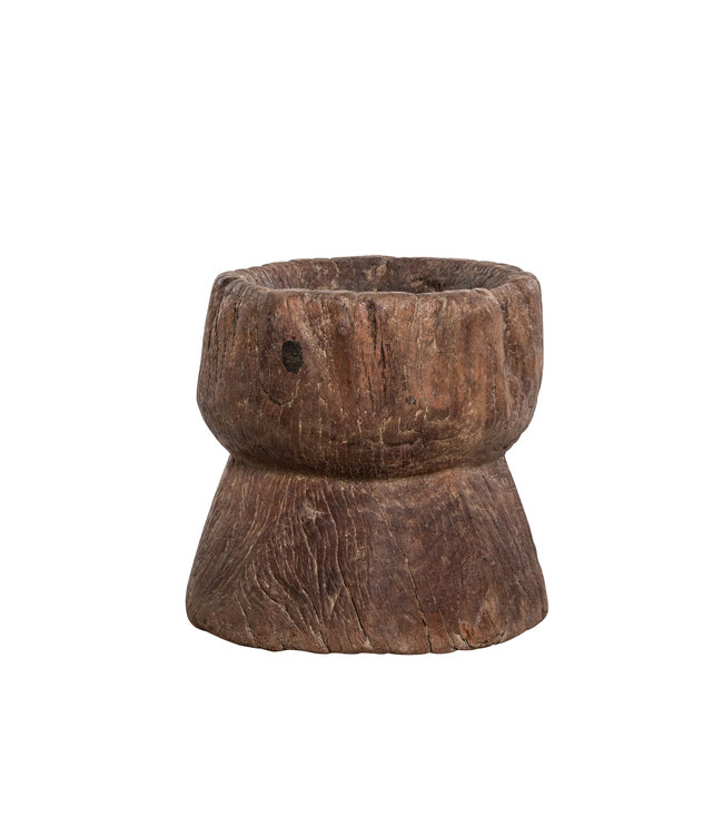 Old wooden mortar #2 - Naga