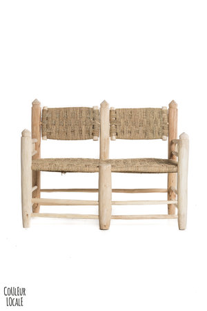 Couleur Locale Duo chair with woven seat