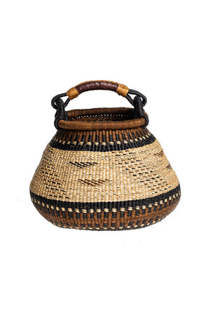 Bolga pot basket earth tones #2