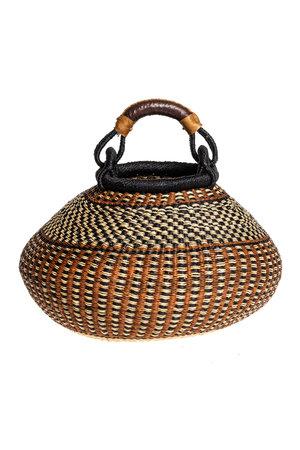 Bolga pot mand aardetinten #3