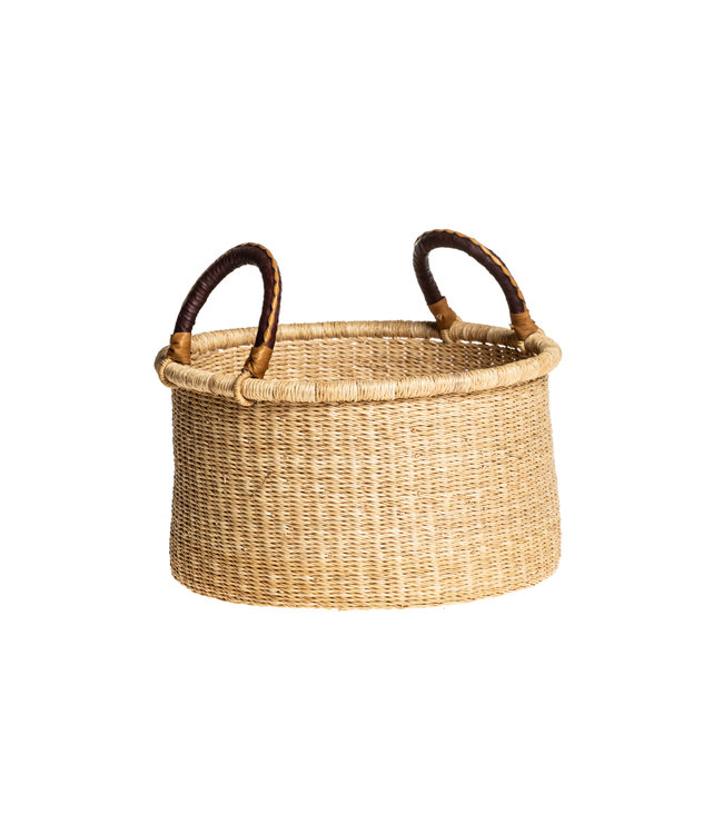 Bolga 'bucket' basket with handles