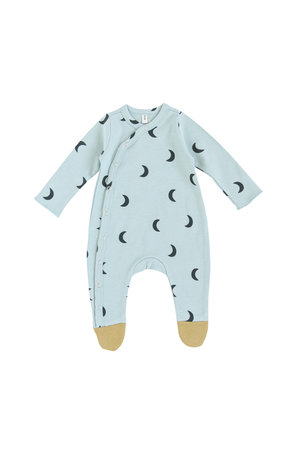 Organic Zoo Onesie 'moons' with contrast feet