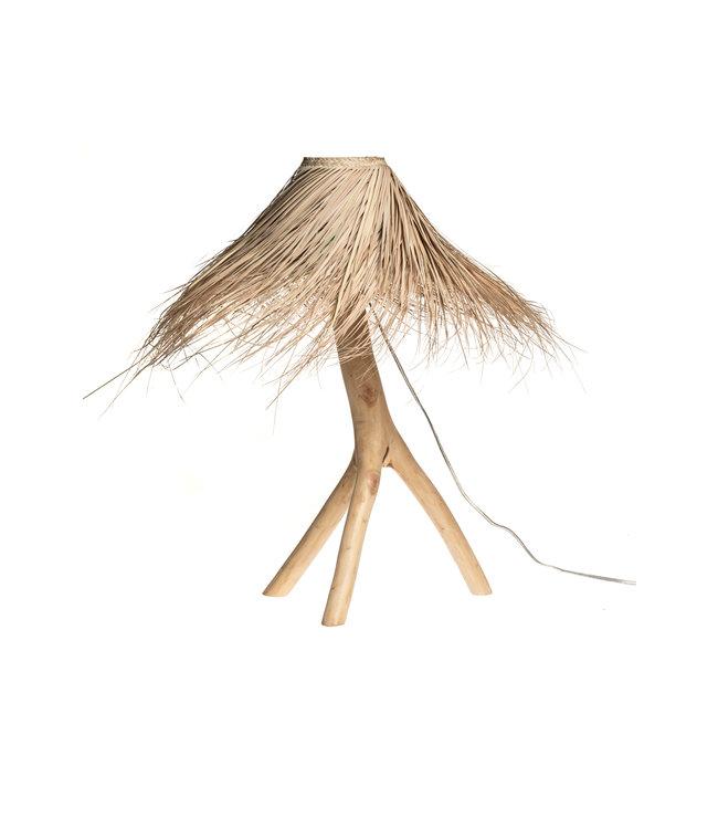 Palm tafellamp 'Tak' - naturel