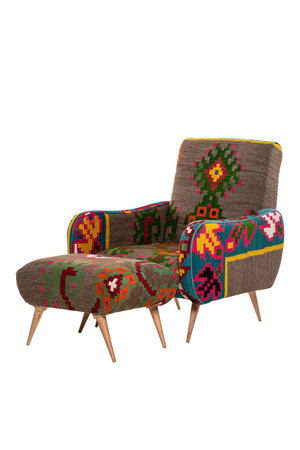 Rock The Kasbah Armchair Tabarka with footstool