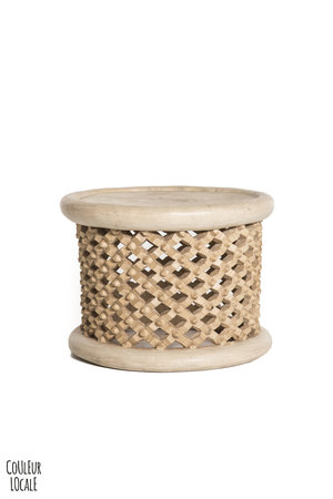 Bamileke coffee table natural  Ø40cm