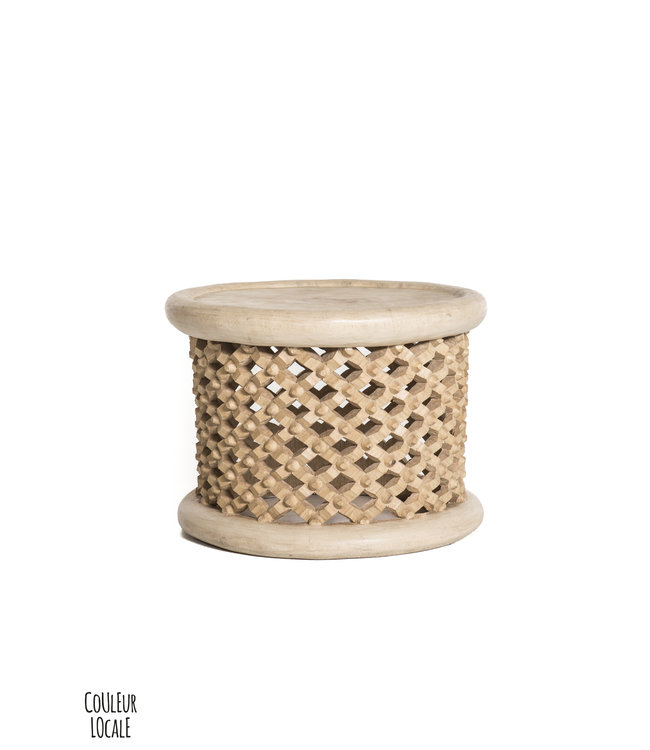 Bamileke coffee table natural  Ø40cm