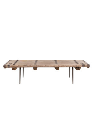 Coffee table elm wood  old door - 177cm