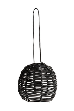 Hanging lamp 'Ijass'  black leather