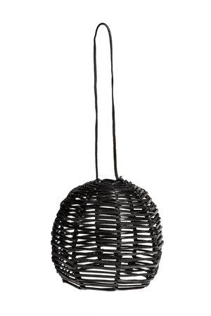 Hanglamp 'Ijass' zwart leer