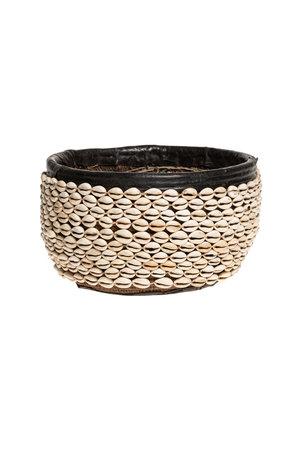 Cowrie shell basket - Nigeria