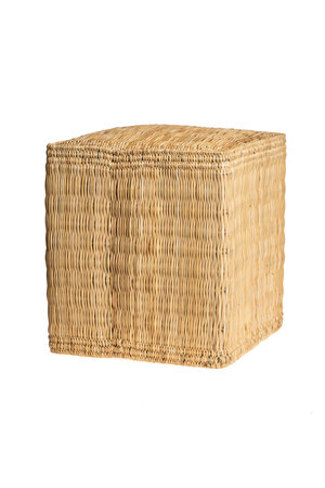 Square wicker ottoman